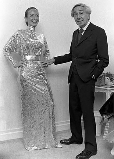 Norman Norell with his model 1972_mermaid dress.jpg